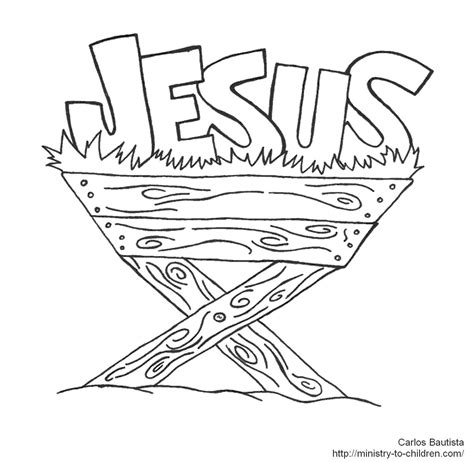 jesus coloring pages for toddlers jesus in manger coloring page