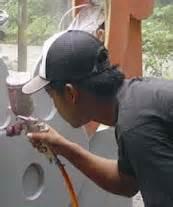 Cat Bahan Dasar Air Warna Tosca tukang bangunan tips finishing material kayu