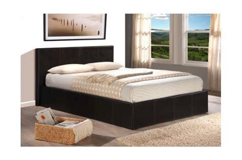 lit coffre 140x190 chocolat avec sommier lit design pas cher