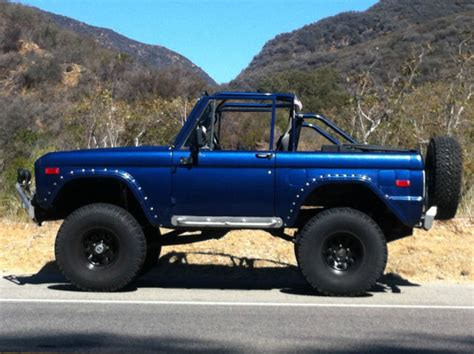 Ready Custom Ford Bronco Biru Blue Wheels Hw Hotwheels go anywhere in this custom classic 1971 bronco 4x4 for sale photos technical specifications