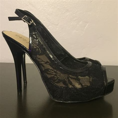 guess black high heels 58 guess shoes guess black lace high heels from