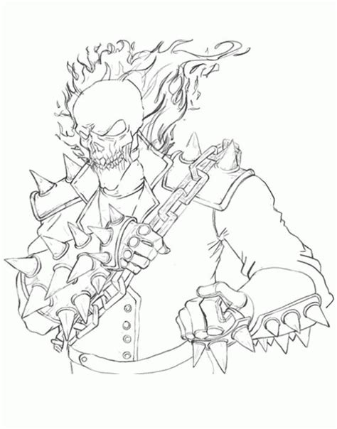 coloring pages of ghost rider ghost rider coloring sheet free printable superheroes