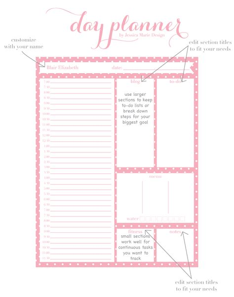 cute hourly planner printable the gallery for gt cute hourly schedule template
