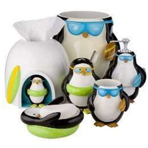 Penguin Bathroom Accessories 17 Best Images About Penguin Home Decor And More On Vinyl Penguin