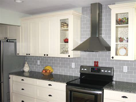 Gray Kitchen Backsplash Traditional True Gray Glass Tile Backsplash Subway Tile Outlet