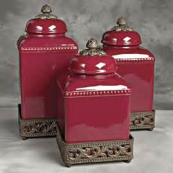 red kitchen canister sets ceramic ceramic tuscan red kitchen canister set out of my price