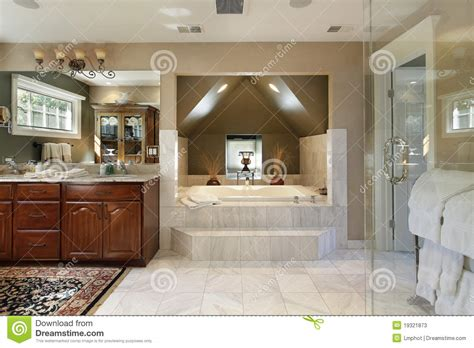 step up bathtub master bath with step up tub stock photos image 19321873
