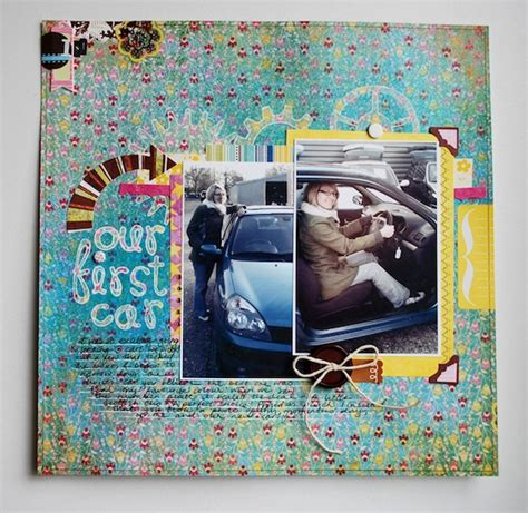 scrapbook layout new car our first car scrapbook layout