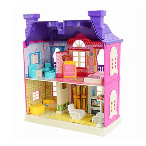 barbie doll house malaysia barbie dollhouse miniatures diy assembled house kit toys w led light xmas gift