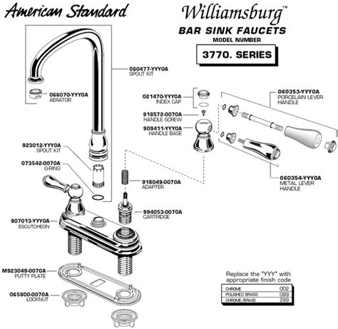 American Standard Kitchen Faucet Repair Parts by Plumbingwarehouse Com American Standard Bathroom Faucet