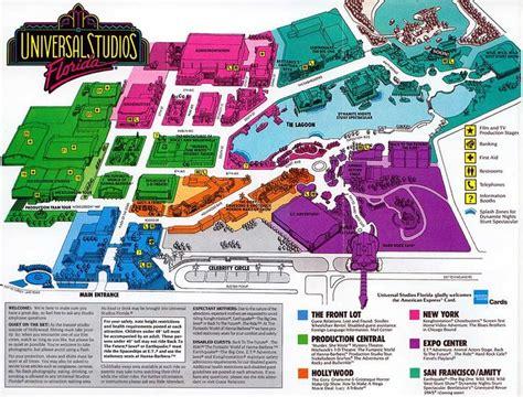 printable maps universal studios orlando universal studios florida 1992 theme park maps