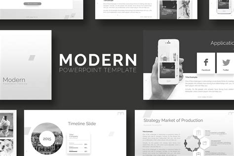 Modern Powerpoint Template By Rrgraph Design Bundles Modern Slides Template