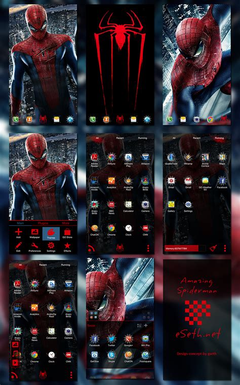 go launcher themes spiderman the amazing spider man go launcher ex theme by gseth on