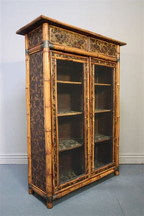 antique bamboo glazed bookcase antiques atlas