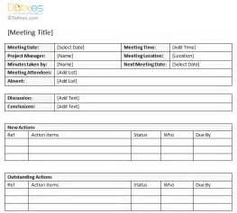 search results for meeting agenda template with action
