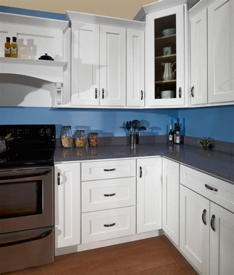 white shaker style cabinets decorating finest kitchen with catchy look by admirable