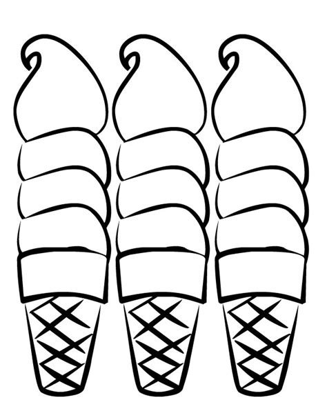 free coloring pages of ice cream cones ice cream cone coloring page clipart best