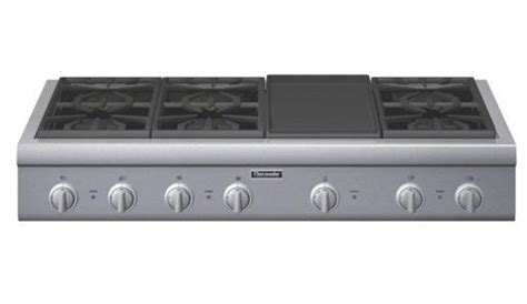 pcggd thermador  pro gas cooktop  burners griddle