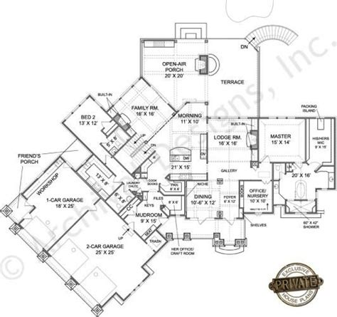 big floor plan big canoe mountain house plans rustic home plans