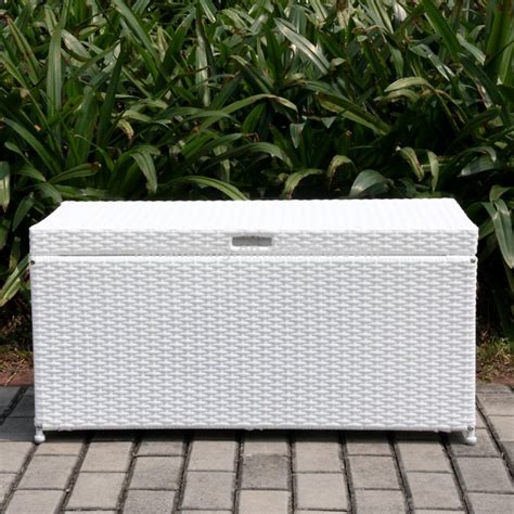 plastic rattan waterproof outdoor garden cushion storage