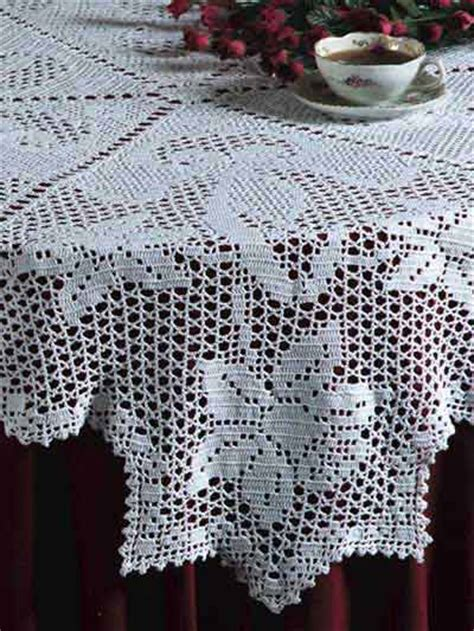 pattern crochet tablecloth free crocheted tablecloth patterns easy crochet patterns