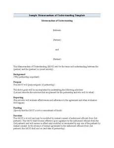 standard memorandum of understanding format free download