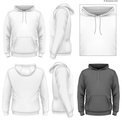 design a hoodie pull over 4 designer pullover sweatshirt design vector material