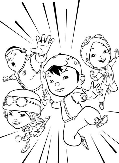 Boboi Boy Topi Halilintar 1 gambar mewarnai gambar boboiboy lucu kartun di rebanas