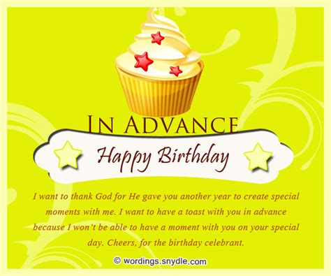 Advance Happy Birthday Wish Advance Birthday Wishes Messages And Advance Birthday