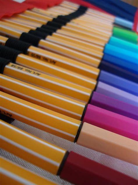 canetas stabilo fruto de arte