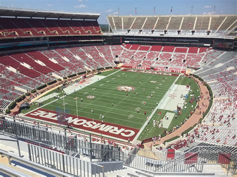 bryant denny stadium student section bryant denny stadium section ss4 rateyourseats com