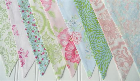 shabby chic bunting fabric flags banner pennants girl s