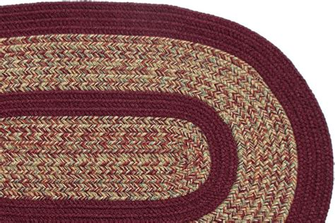 carolina braided rugs 1775 carolina harvest burgundy braided rug
