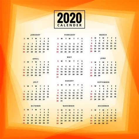 year  calendar template colorful background abstract calendar business png  vector