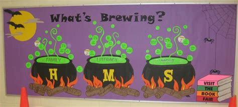october themed events witch s brew halloween bulletin board inspiration
