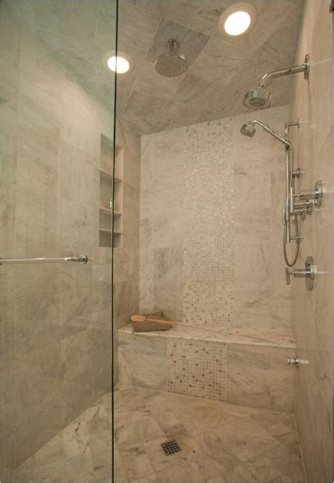 bench in shower shower tiles ideas bathroom traditional with bench seating