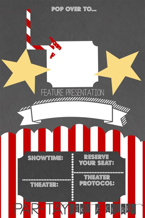 Drive In Movie Party Invitation Party Like A Cherry Theater Invitation Template
