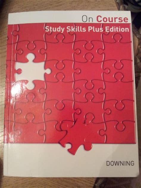 on course study skills plus edition 9780495983637