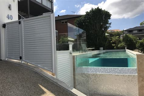glass pool fencing brisbane frame  semi frameless