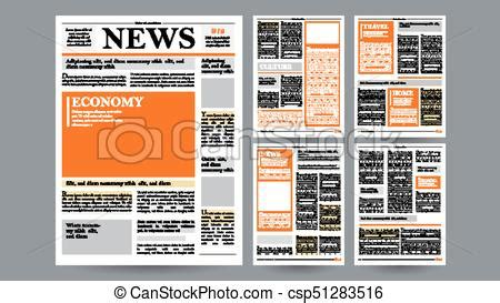 newspaper design template vector images articles