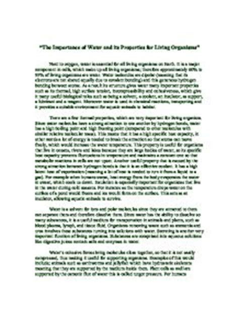 Journey To The World Of Plants Essay by Essays About Water