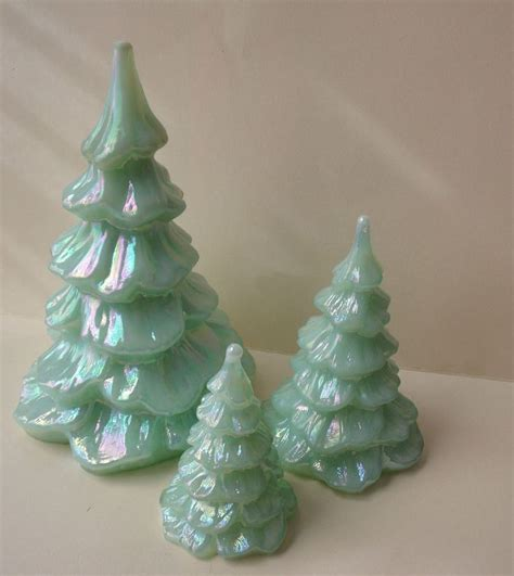 17 best images about fenton glass christmas trees on