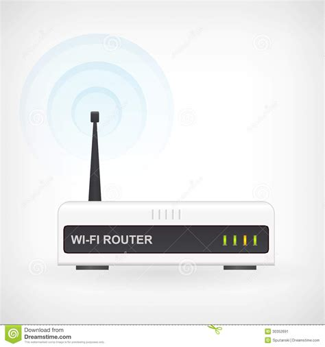 Modem Wifi Unlimited wireless wifi router modem vector icon stock image image 30352691