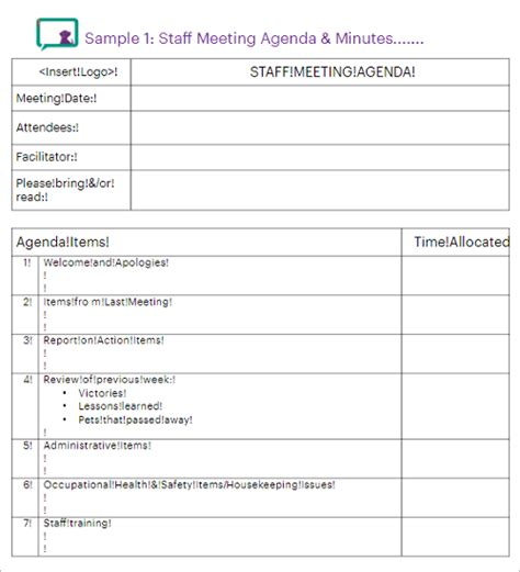 36 Meeting Minutes Template Free Word Pdf Doc Excel Formats Level 10 Meeting Template