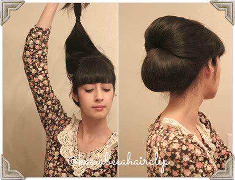 tutorial menata rambut pendek sendiri untuk ke pesta tutorial membuat sanggul cantik retro rambut sendiri 2014