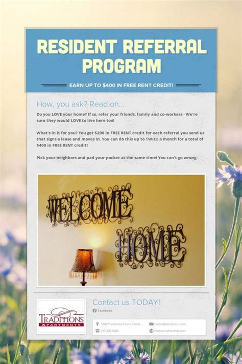referral flyer template pin by prcommunities on apartment management