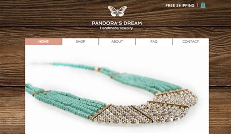 Handmade Site - handmade jewelry wix template wix fashion template