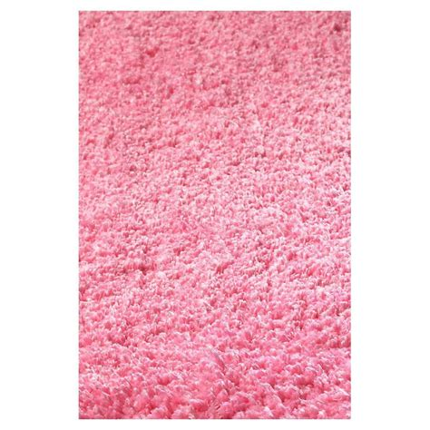 pink throw rugs shop kas rugs sofia shag pink rectangular indoor machine made throw rug common 3 x 5 actual