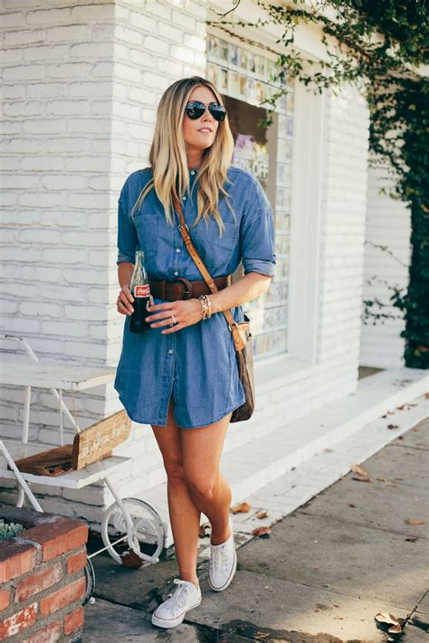 the denim shirt dress
