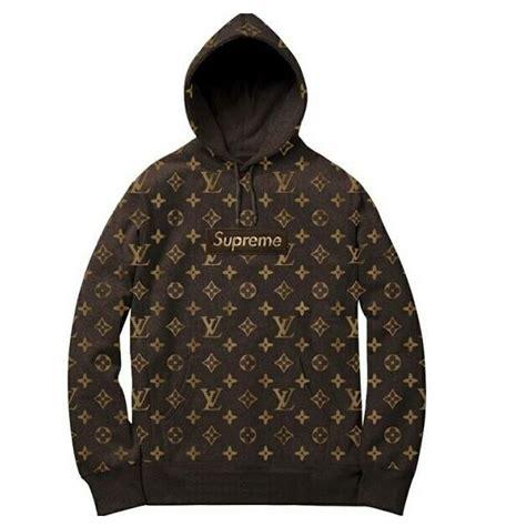 Hot Supreme X Louis Vuitton Hooded Sweatshirt Coffee ? Go
